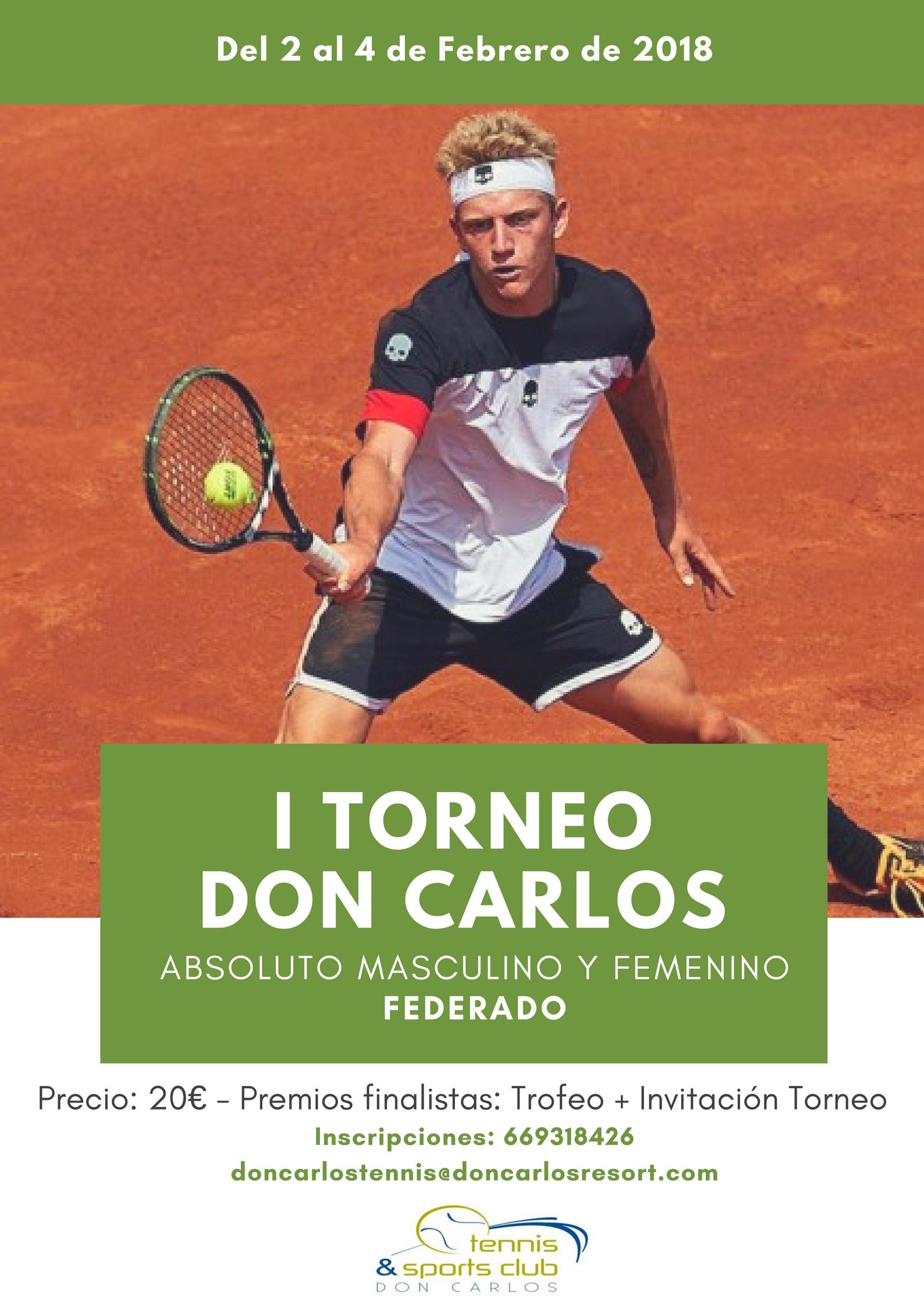 Cartel I Torneo Don Carlos del año 2018