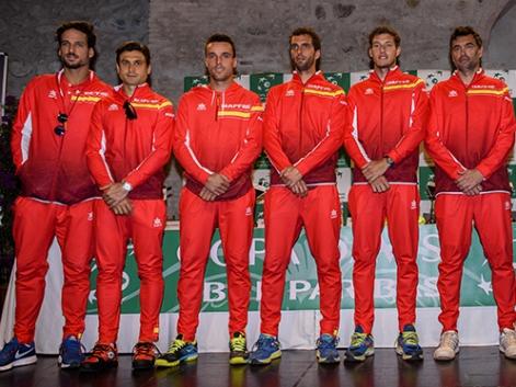 Equipo Español de Copa Davis contra Reino Unido en Enero 2018