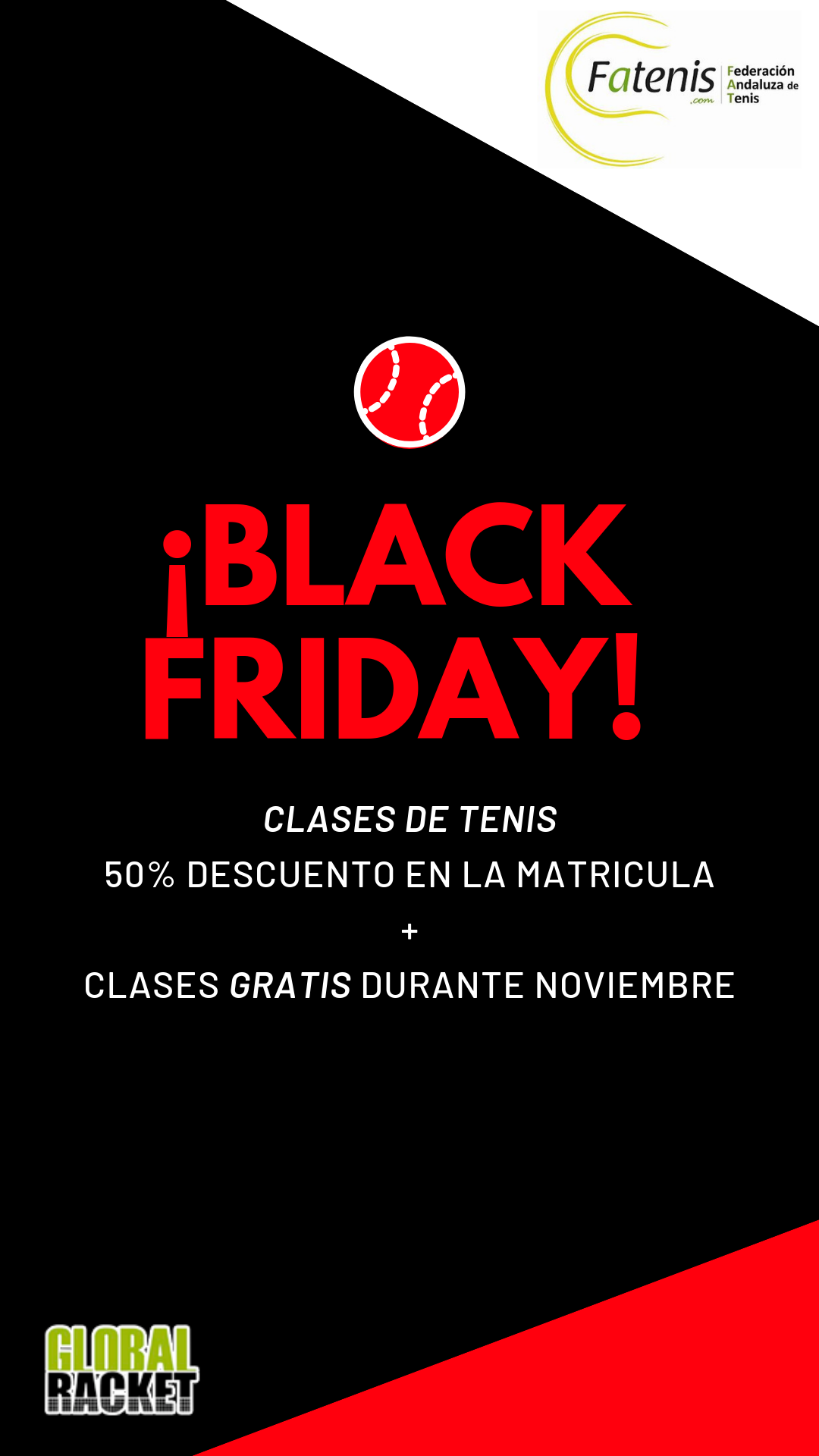 f6daa764c41 BLACK FRIDAY – Consigue clases de TENIS GRATIS – Global Racket